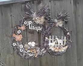 Dekorácie - Jarná dekorácia z brezového prútia - Na gazdovskom dvore - 13121126_