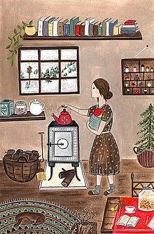 Obrazy - Spinkaj babätko / reprodukcia ilustracie - 13118057_
