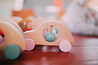 Hračky - Hrkálka autičko pastelové - 13121460_