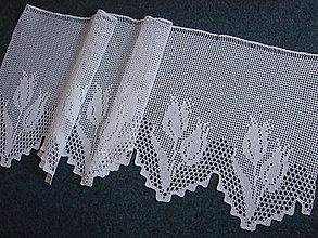 Úžitkový textil - háčkovaná vitrážková záclonka - 13119202_