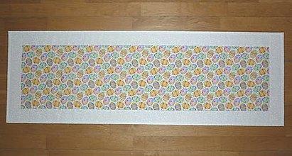 Úžitkový textil - Obrus, štóla VEĽKONOČNÉ VAJÍČKA 4 (rozmer 109 x 36,50 cm) - 13122343_
