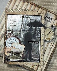 Papiernictvo - Pán s dáždnikom pohľadnica - 13117334_