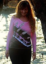 Tričká - Dámske tričko batikované, maľované  PREBÚDZANIE - 13118105_