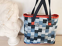 Veľké tašky - Rifľová MOZAIKA taška - 13118122_
