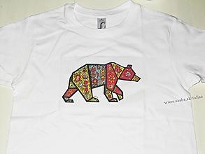 Detské oblečenie - Detské tričko MEDVEĎ - veľkosť 118 - 128 - 13122165_
