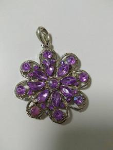 Iné šperky - Kovová ozdoba -  prívesok Kvet - 13122282_