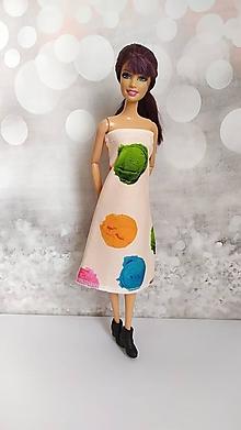 Hračky - Letné marhuľové šaty so zmrzlinkami - 13118239_
