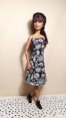 Hračky - Modré bublinkové šaty pre Barbie - 13121220_