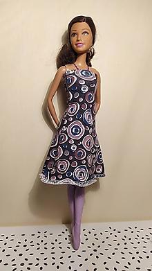 Hračky - Ružové bublinkové šaty pre Barbie - 13121293_