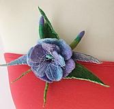 Brošne - Brošňa jarný kvet fialovo modrá - 13121533_