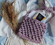 Kabelky - Háčkovaná taška ružovo fialová - 13118104_