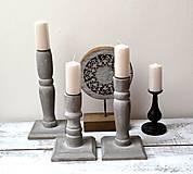 Svietidlá a sviečky - Drevené svietniky-sada 3 kusy - 13119465_