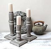 Svietidlá a sviečky - Drevené svietniky-sada 3 kusy - 13119471_