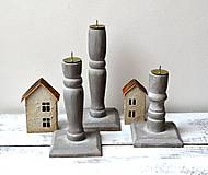 Svietidlá a sviečky - Drevené svietniky-sada 3 kusy - 13119474_
