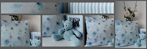 Dekorácie - modrý vankúšik - 13117131_