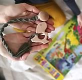 Detské doplnky - Macrame baby klip na cumlík alebo hryzátko - 13117082_