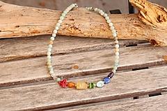 Náhrdelníky - Čakrový náhrdelník z minerálov - 13118071_