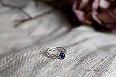 Prstene - spletaný prsteň - inšpirované prírodou (lapis lazuli) - 13117440_