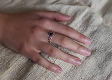 Prstene - spletaný prsteň - inšpirované prírodou (lapis lazuli) - 13117441_