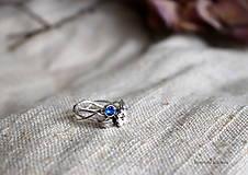 - strieborný prsteň zirkón - inšpirované prírodou - 13117507_