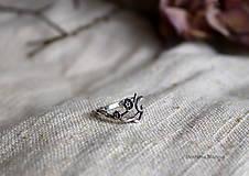 Prstene - spletaný prsteň - inšpirované prírodou - 13117653_