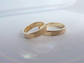 Prstene - Obrúčky alebo prívesok s odtlačkom prsta (Zlatá) - 13117274_