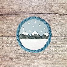 Magnetky - Nasnežilo - zimná magnetka (vrchy) - 13122195_