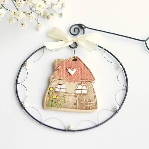 Dekorácie - rozkvitnutý jarný domček II - 13122743_