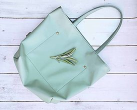Veľké tašky - Ala (taška) zelená šalvia - 13125204_