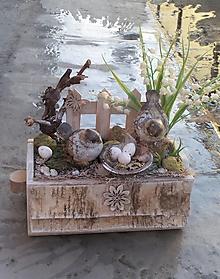 Dekorácie - Jarná dekorácia s vtáčikmi - 13127054_