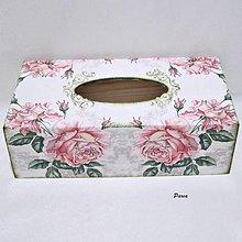 Krabičky - Servítkovník -Vintage rose - 13124126_