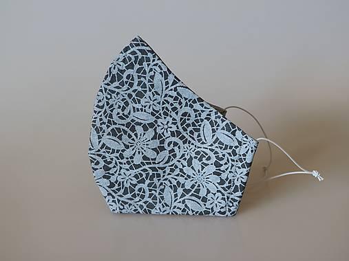Dizajnové rúško pavučinka tvarované dvojvrstvové