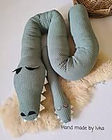 Textil - Valec do postieľky  - krokodíl - 13124191_