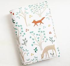Papiernictvo - Obal na knihu nastaviteľný - Lesné zvieratá (nastaviteľná veľkosť) - 13124108_