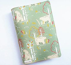Papiernictvo - Obal na knihu - Medvede v lese (nastaviteľná veľkosť) - 13124207_