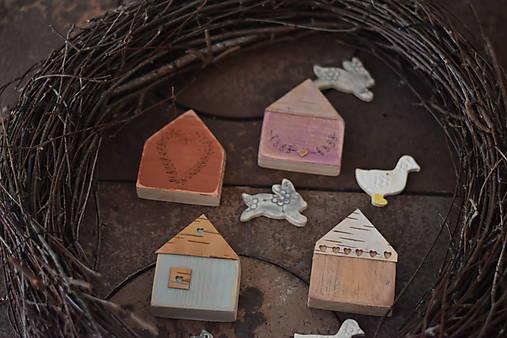 Dekorácie - Jarné domčeky 8 - 13125948_