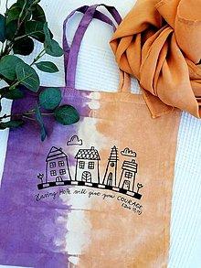Nákupné tašky - Batikovaná taška s povzbudením - 13125200_
