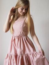 Šaty - Ružové riasené šaty - 13127438_