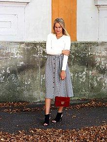 Sukne - Kockovaná retro sukňa - 13127255_