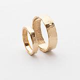 Prstene - Tepané obrúčky s odtlačkom prsta - 13126367_