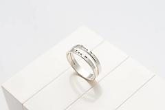 Prstene - Dvojitý prstienok s menom / dátumom MINI - 13126588_