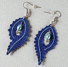 Náušnice - Naušnice-Modré kvapky - 13123905_