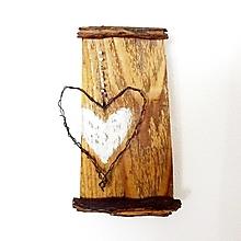 Dekorácie - Srdce z chalúpky - 13123418_