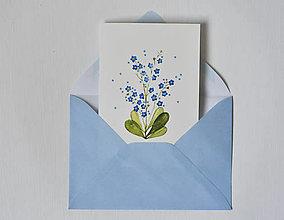 Papiernictvo - Pohľadnica - nezábudka - 13125120_