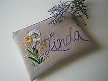 Taštičky - Kozmetická taštička Linda - 13122665_