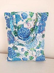 Nákupné tašky - Modré hortenzie - 13123129_
