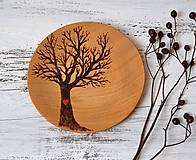 Prstene - Malý,drevený tanierik - Strom - 13123555_
