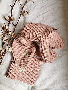 Úžitkový textil - Ľanový waflový prehoz na posteľ - 13125839_