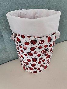 Košíky - Látkový kôš na prádlo/hračky LIENKA - 13124453_