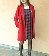 Šaty - Kárované šaty na traky - 13127414_